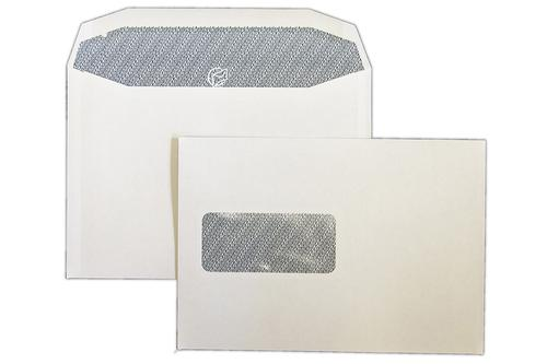 C5 162x229mm Autofast White 90gsm Window Opaqued Gummed Wallet 500 Pack