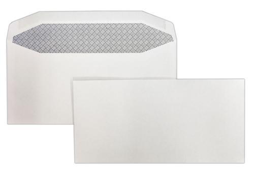 DL 110x220mm Kestrel White 100gsm Gummed Wallet 500 Pack