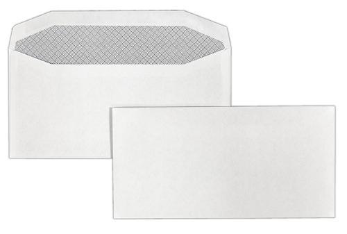 DL 110x220mm Merlin White 80gsm Opaqued Gummed Wallet 1000 Pack