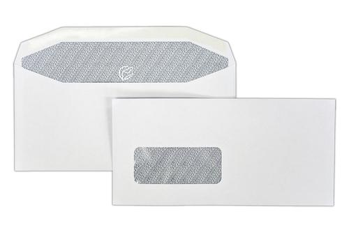 1W34 - 114x235mm 90gsm White Window Gummed Wallet with Inside Seams 500 Pack