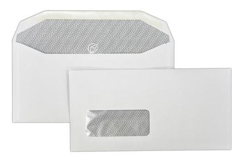 121x235mm Autofast White 90gsm Window Gummed Wallet 500 Pack