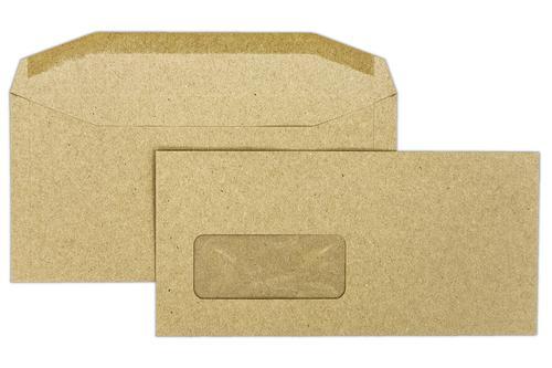 DLX 114x235mm Treesaver Manilla 80gsm Window Gummed Wallet 500 Pack