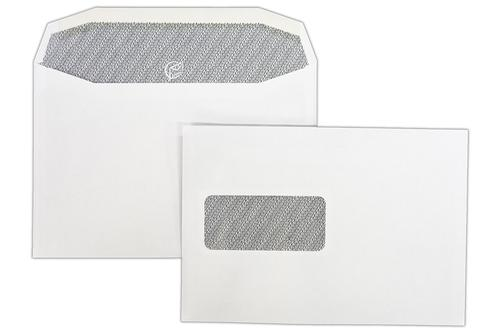 1W56IS - 162x235mm 90gsm White Window Gummed Wallet with Inside Seams 500 Pack