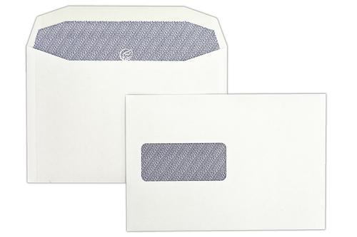 C5X 162x235mm Autofast White 90gsm Window Opaqued Gummed Wallet 500 Pack