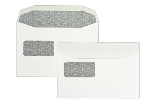 162x240mm 90gsm White Reverse Window Gummed Wallet 500 Pack