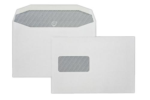 1W55IS - 162x240mm 90gsm White Window Gummed Mailing Wallet with Inside Seams 500 Pack