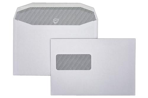 C5X 162x240mm Autofast White 90gsm Window Opaqued Gummed Wallet 500 Pack