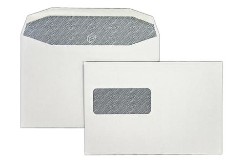 1W54IS - 162x240mm 90gsm White Window Gummed Wallet with Inside Seams 500 Pack