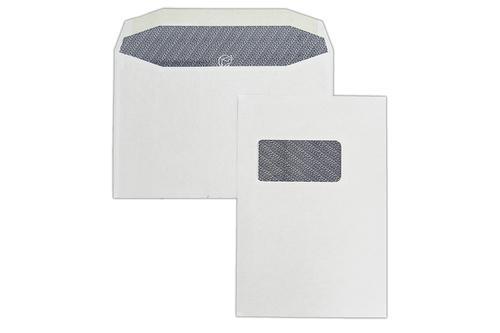 162x240mm 90gsm White Window Gummed Portrait Wallet 500 Pack