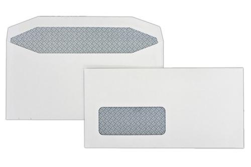 1B36I - 110x220mm 100gsm White Window Gummed Wallet 500 Pack