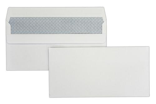 DL 110x220mm Hawk White 90gsm Opaqued Self Seal Wallet 1000 Pack