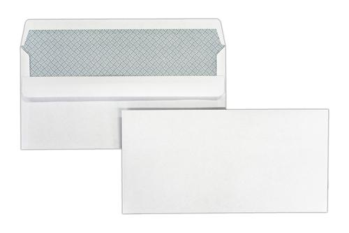 DL 110x220mm Merlin White 80gsm Opaqued Self Seal Wallet 1000 Pack