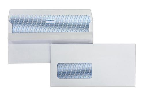 EA4387GWS - 110x220mm 100gsm White Window Self Seal Glenkover Wallet 500 Pack