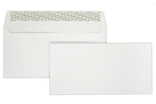 1N08LG - 110x220mm Superior Range 120gsm White Peel & Seal Wallet 500 Pack