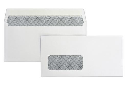 1P24LG - 110x220mm 100gsm Kestrel White Window Peel & Seal Wallet Laser Guaranteed 500 Pack