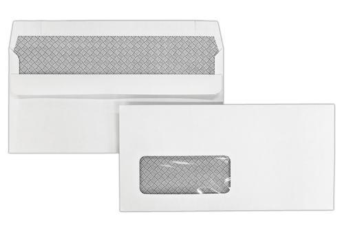 DL 110x220mm Kestrel White 100gsm Window Opaqued Self Seal Wallet 1000 Pack