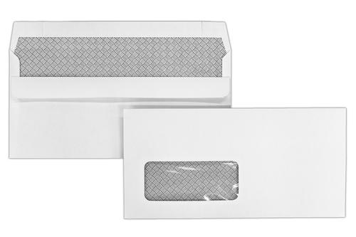 DL 110x220mm Kestrel White 100gsm Window Opaqued Self Seal Wallet 500 Pack