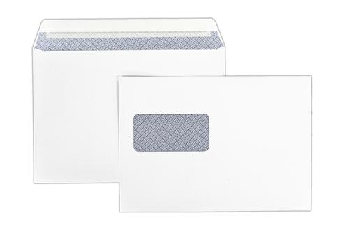 1P51 - 162x229mm 100gsm White Window Peel & Seal Wallet 500 Pack