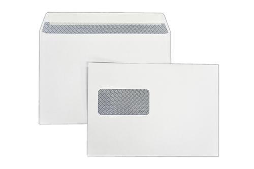 1P51LG - 162x229mm 100gsm White Window Peel Seal Wallet Laser Guaranteed 500 Pack
