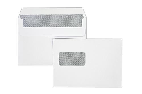 C5 162x229mm Kestrel White 100gsm Window Opaqued Self Seal Wallet 500 Pack