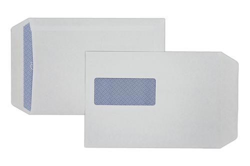 C5 229x162mm Hawk White 90gsm Window Opaqued Self Seal Pocket 500 Pack