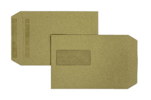 C5 229x162mm Falcon Manilla 90gsm Window Self Seal Pocket 500 Pack