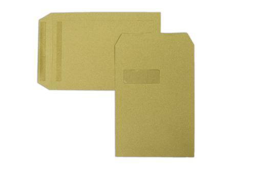 C4 324x229mm Treesaver Manilla 90gsm Window Self Seal Pocket 250 Pack