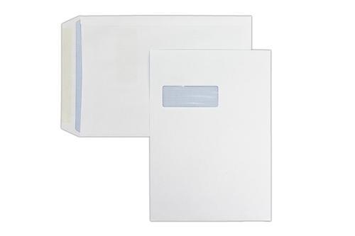 324x229mm 100gsm White Window Gummed Pocket 250 Pack
