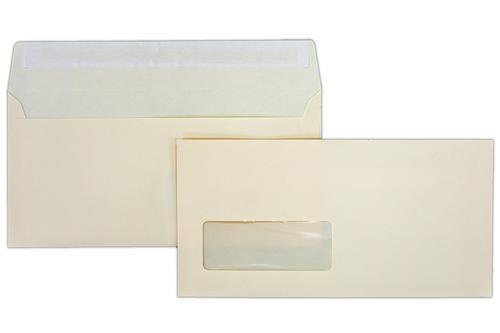 110x220mm (DL) Clariana Magnolia 120gsm Peel & Seal Window Wallet Envelope LCDLMA-W 500 Pack