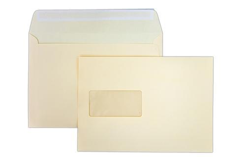 162x229mm Clariana Magnolia 120gsm Peel & Seal Window Wallet LCC5MA-W 500 Pack