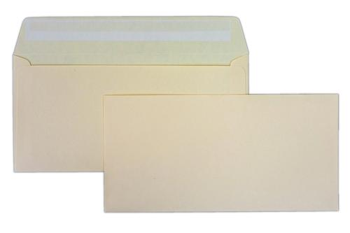 110x220mm (DL) Clariana Magnolia 120gsm Peel & Seal Wallet Envelope LCDLMA 500 Pack