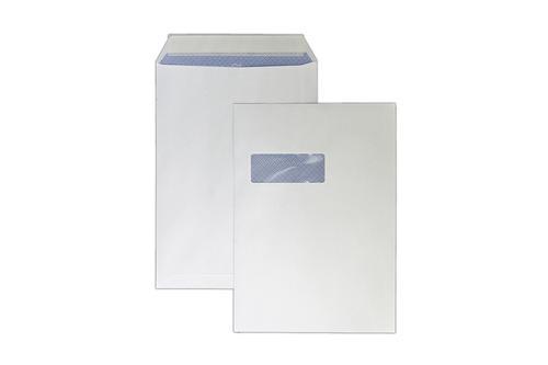 C4 324x229mm Kestrel White 100gsm Window Opaqued Peel & Seal Pocket 250 Pack