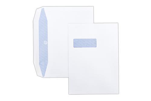 1W74 - 229x324mm 100gsm White Window Gummed Wallet 250 Pack