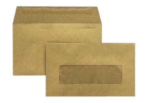 2B32FG - 89x152mm 70gsm Manilla Window Gummed Wallet 1000 Pack