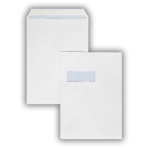 EC1289GWS -324x229mm 100gsm White Window Self Seal Pocket 250 Pack