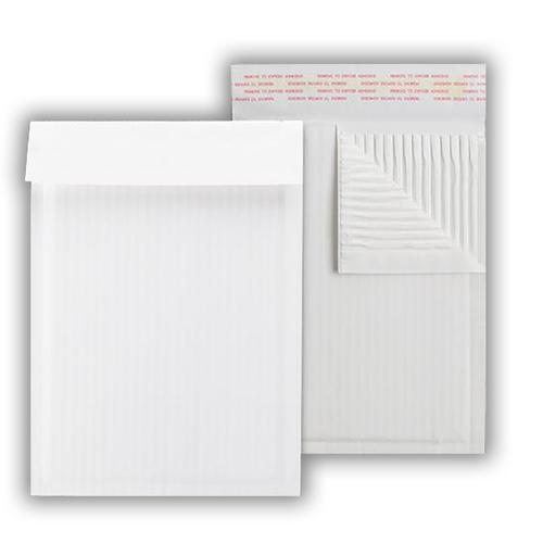 265x180mm Treesaver Correlope 160gsm White Corrugated Bag Peel & Seal Pocket 100 Pack