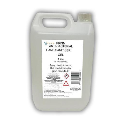 Anti Bacterial Hand Sanitiser Gel Min 70% Alcohol 6 Pack x 5 Litre Drum (30 Litres)