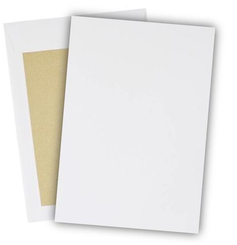 254 x 178mm 120gsm  White Board Back Pocket Peel & Seal 250 Pack