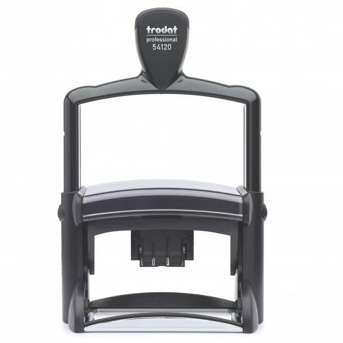 Trodat Professional 5212 Self Inking Dater Custom Stamp. Imprint Area 115 x 68 mm - 14 lines maximum