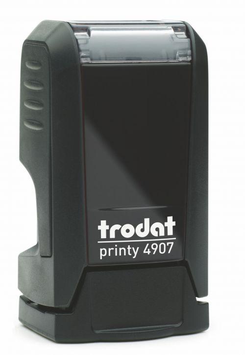 Trodat Printy 4907 Self Inking Custom Stamp. Imprint Area 11 x 5 mm - 1 line maximum