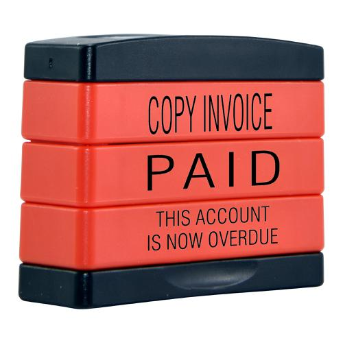 Trodat 3-in-1 Stamp Stack Accounts COPY INVOICE / PAID / THIS ACCOUNT IS NOW OVERDUE 11167