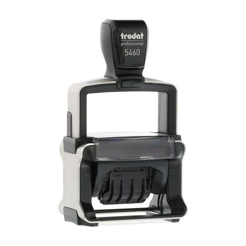 Trodat Professional 5460 Self Inking Custom Date And Text Stamp. Imprint Area 53 x 32 mm - 6 lines maximum - 3 above and 3 below date