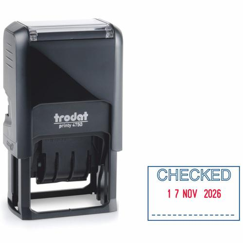 Trodat Printy Date & Word Stamp 141386 4750/L4 - CHECKED