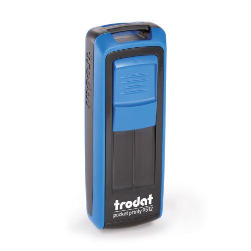 Trodat Pocket Printy 9512 - 47 x 18 mm - Eco Black - Sky Blue