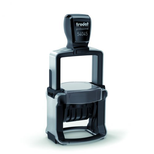 Trodat Professional 54045 Date Self Inking Custom Stamp. Imprint Area 45 x 30mm - Allows up to 8 lines of text