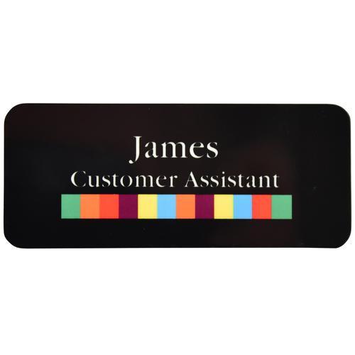 Trodat Domed badge full colour print 75 x 40mm