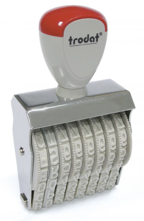 Trodat Classic Line 1596 Numberer - This stamp features 6 adjustable bands each with a character size of 9mm perfect for use at a large event.