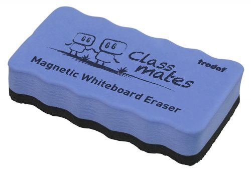 Trodat Classmates Educational Magnetic Eraser - Blue. The perfect tool for in the classroom, wipe away any whiteboard marks with this magnetic eraser.