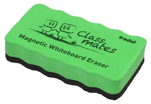 Trodat Classmates Educational Magnetic Eraser - Green. The perfect tool for in the classroom, wipe away whiteboard marks with this magnetic eraser.