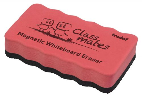 Trodat Classmates Educational Magnetic Eraser - Red. The perfect tool for in the classroom, wipe away any whiteboard marks with this magnetic eraser.
